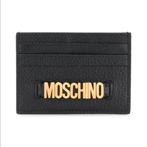 100% AUTHENTIC MOSCHINO LEATHER CARD CASE